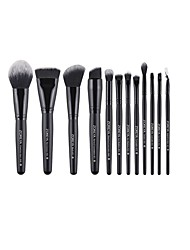 cheap -Professional Makeup Brushes 12pcs Soft Full Coverage Synthetic Comfy Artificial Fibre Brush Aluminium Alloy 7005 / Wooden / Bamboo for Makeup Brushes Eyeliner Brush Blush Brush Foundation Brush