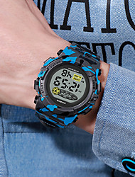 cheap -Kids Digital Watch Digital Formal Style Stylish Casual Calendar / date / day Digital White Blue Red / Silicone / Chronograph / Noctilucent / Large Dial