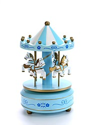 cheap -Music Box Carousel Music Box Carousel Merry Go Round Cute Lighting Unique Plastic Women's Girls' Kid's Adults Graduation Gifts Toy Gift