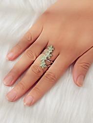 cheap -Ring Green Alloy Flower Sweet 7 / Women's