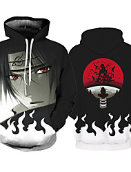 cheap -Inspired by Naruto Cosplay Costume Hoodie Polyster Print Printing Hoodie For Men's / Women's