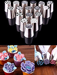 cheap -17PCS Flower Russian Icing Piping Mouth Cake Decorating Baking Accessories Tool