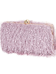 cheap -Women's Bags Velvet Evening Bag Chain 2020 Party Event / Party White Black Purple Blushing Pink