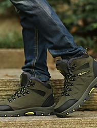 cheap -Men's Hiking Shoes Wearable Comfortable Hiking Outdoor Exercise Walking Fall Winter Dark Grey Black Green