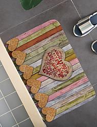 cheap -Bathroom Bath Mats Multi-Color Stripes Modern Coral Velve Non Slip