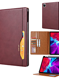 cheap -Case For Apple iPad Pro 12.9''  Ipad Pro 12.9''2020  Card Holder Shockproof Magnetic Full Body Cases Solid Colored PU Leather  TPU