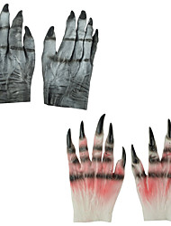 cheap -Halloween Party Toys Halloween Gloves 2 pcs Thrilling Demon Masquerade Vinyl Kid's Adults Trick or Treat Halloween Party Favors Supplies