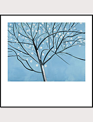 cheap -Framed Art Print Abstract  Hand - Drawn Painting Flowers  Plants And Branches Wall Art Modern Home Decoration Ready To Hang