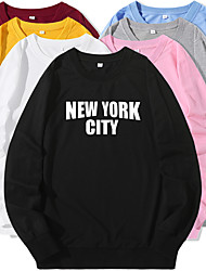 cheap -Women's Sweatshirt Pullover Artistic Style Crew Neck Letter Printed Sport Athleisure Sweatshirt Top Long Sleeve Warm Soft Oversized Comfortable Everyday Use Causal Exercising General Use / Winter
