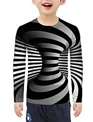 cheap -Kids Boys' T shirt Blouse Long Sleeve 3D Print Gray Children Tops Summer Active Basic Christmas
