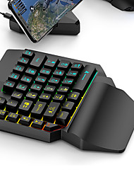cheap -LED Gaming Keypad for Home Office Ergonomic Multicolor Backlight 35 Keys One-handed Membrane Keyboard Kit