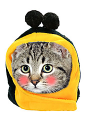 cheap -Dog Cat Hats, Caps & Bandanas Bandanas & Hats Cartoon Cat Headwarmers Headpieces Christmas Party Dog Clothes Yellow Costume Cotton XS S M L / Birthday / Halloween
