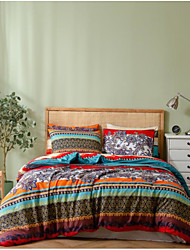 cheap -Boho Style Botanical Print 3-Piece Duvet Cover Set Hotel Bedding Sets Comforter Cover with Soft Lightweight Microfiber(Include 1 Duvet Cover and 1or 2 Pillowcases)