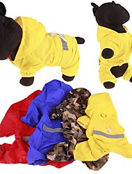 cheap -Dog Rain Coat Puppy Clothes Waterproof Outdoor Dog Clothes Puppy Clothes Dog Outfits Yellow Red Blue Costume for Girl and Boy Dog Mixed Material S M L XL XXL