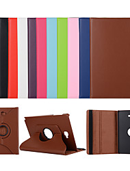 cheap -Case For Samsung Galaxy tab A 9.7 T550 T555 T583 S T530 T815 T550 T560 T820 T825 T583 S3 S2 4 Ewith Stand Flip Full Body Cases Solid Colored PU Leather TPU 360 Degree Rotating Protective Stand Cover