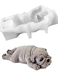 cheap -Cute Dog Silicone Mold Mousse Cake 3D Shar Pei Mould Ice Cream Jello Pudding Blast Chilling Tool DIY Fondant Decoration