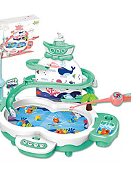 cheap -Fishing Toy Rotating Fishing Toy Penguin Fish Magnetic Electric 2 Players ABS Kid's Toy Gift