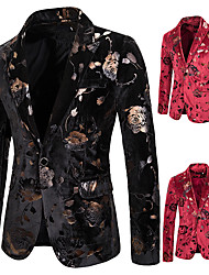 cheap -Tuxedos Standard Fit Peak Single Breasted One-button Polyester Waves / Printing