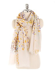 cheap -Women's Tassel Rectangle Scarf - Floral / Print Washable