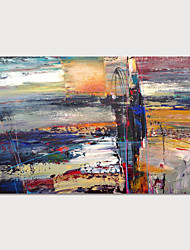 cheap -Hand-Painted Abstract Painting Canvas Art  Painting Abstract Acrylic Painting Modern Art Textured Art  with Stretcher Ready to Hang With Stretched Frame
