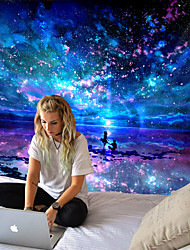 cheap -Tongdi modern tapestry INS elegant starry universe companion under the starry sky printed wall-mounted doily home decoration living room bedroom living room