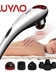 cheap -LUYAO 4 In 1 Electric Neck Massager Hammer Massage Back Relax Multifunctional Cervical Vertebra Roller Massage Stick