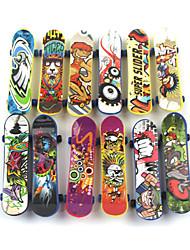 cheap -12 pcs Finger skateboards Mini fingerboards Finger Toys Plastic Professional Office Desk Toys Cool Kid's Teen Unisex Party Favors  for Kid's Gifts
