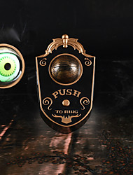 cheap -Halloween Party Toys Halloween Doorbell Light Up Eyeball Doorbell 2 pcs Door Decorations Masquerade Metal Kid's Adults Trick or Treat Halloween Party Favors Supplies