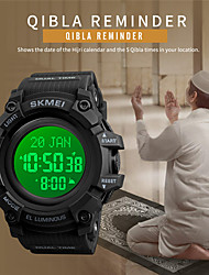 cheap -SKMEI Men's Sport Watch Digital Modern Style Stylish Outdoor Calendar / date / day Digital White / Green Black Green / One Year / Silicone / Chronograph / Stopwatch