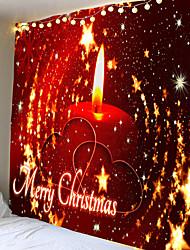 cheap -Festive Christmas candles large wall hanging bedroom wall hanging wall tapestry hotel corridor decoration cushion Santa