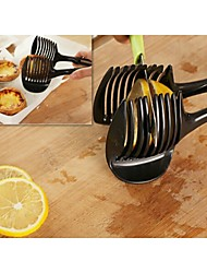 cheap -Handheld Lemon Tomato Slicer Prevent Cut Hand Fruit Vegetable Divider Kitchen Clip
