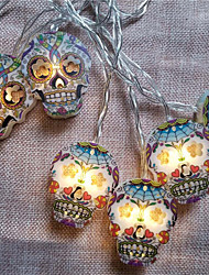 cheap -Halloween Party Toys LED Lighting String Lights Skull Skeleton Plastic Kid's Adults Trick or Treat Halloween Party Favors Supplies