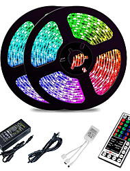cheap -10M LED Strip Lights RGB Tiktok Lights 2835 SMD 600 LED String Tape 44 Key IR Remote control LED Ribbon Tape Under Cabinet Cupboard Decoration