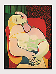 cheap -Canvas Wall Art Modern Printing Picasso Abstract Women Prints Suitable for Living Room Bedroom Home Office Wall Decoration With Frame Ready To Hang
