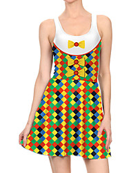 povoljno -Žene Haljina A-kroja Mini haljina - Bez rukávů Print Mašna Print Proljeće Ležerne prilike Dnevno 2020 Duga S M L XL