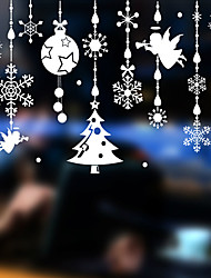 cheap -Christmas Snow Angel Wall Stickers Decorative Wall Stickers, PVC Home Decoration Wall Decal Wall Decoration Glass Window Decoration / Removable
