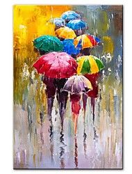 cheap -Large Size 100% Hand painted Lover Rain Landscape Oil Painting On Canvas Wall Art Pictures For Living Room Home Decor best gift Rolled Without Frame