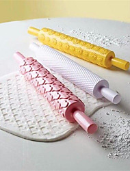 cheap -16 Pattern Rolling Pin Embossing Baking Pastry Cake Roller Decorating Mold Tool rouleau a patisserie Cake Decorating Tools