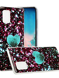 cheap -Case For Samsung Galaxy Galaxy A71 5G Galaxy A21s Pattern Glitter Shine Back Cover Glitter Shine Marble TPU