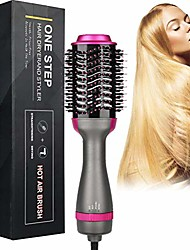 cheap -Negative Ion Curler Straightening Comb Hair Dryer Brush One Step 3-in-1 Hot Air Styler and Volumizer, 2 Temperatures 3 Speeds Reduce Frizz and Static Suitable for Long Hair