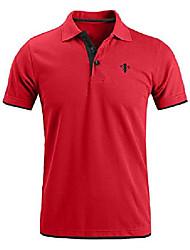 cheap -mens short sleeve polo shirts slim fit casual contrast sports golf polo t shirt & #40;medium, red& #41;