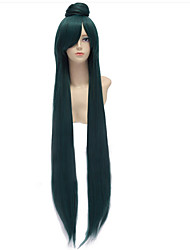 cheap -Sailor Moon Sailor Moon Cosplay Wigs Women's Middle Part 32 inch Heat Resistant Fiber Straight Bun Green Adults' Anime Wig