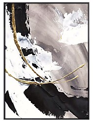 cheap -Big size White gorgeous abstract Painting 100% Hand painted abstract oil painting Gold Gray home Decor Oil Painting on Canvas Rolled Without Frame