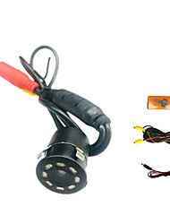 cheap -Car Rear View Camera Universal 8 LED Night Vision Backup Parking Reverse Camera Waterproof 180 Wide Angle HD Color Image Waterproof Infrared Led