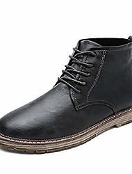 cheap -men's autumn outdoor leather lace-up high-top ankle martin boots oxford shoes (10, grey)