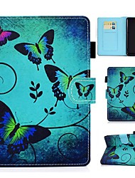 cheap -Case For Amazon Kindle PaperWhite 2 3 4 Kindle Paperwhite 2018 Amazon HD8 HD10 Card Holder with Stand Pattern Full Body Cases Butterfly PU Leather