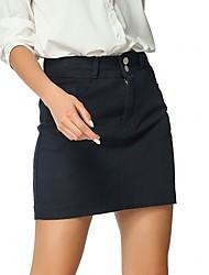 cheap -Women's Daily Wear Basic Cotton Bodycon Skirts Geometric Patchwork Black / Slim