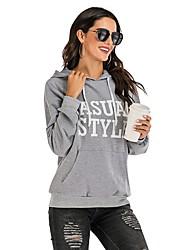 cheap -Women's Pullover Hoodie Sweatshirt Letter Basic Hoodies Sweatshirts  Gray