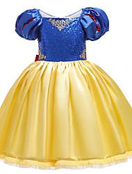 cheap -Princess Dress Cosplay Costume Girls' Movie Cosplay Vacation Dress Halloween Blue Dress Christmas Halloween Carnival Polyester / Cotton