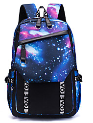 cheap -Unisex Canvas School Bag Functional Backpack Large Capacity Waterproof Zipper 3D Print Multi Color Daily Backpack White Black Blue Red